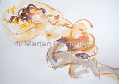 Hanging around 30 x 45 cm '12 Marjan Pennings