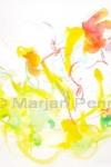 in mijn weitje (Spring) 50 x 65 cm '12 Marjan Pennings