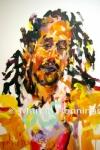 Portret van een man, acryl op doek, '13, 65 x 50, Marjan Pennings