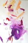 Portret van een vrouw met paarse doek, 65 x 50 cm, acryl op papier, Marjan Pennings
