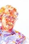 Portret in de zon, acryl op doek, Marjan Pennings
