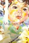 Net wakker, pastel op plaat, 40 x 50 cm, Marjan Pennings