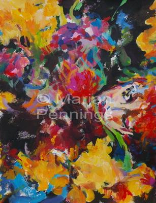 Ophélia, acryl, 70 x 55 cm - Marjan Pennings