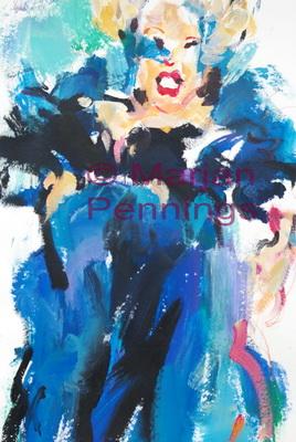 Pink, acryl, 70 x 55 cm - Marjan Pennings