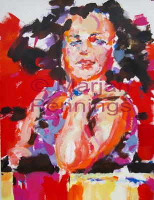 I am me, acryl, 70 x 55 cm - Marjan Pennings