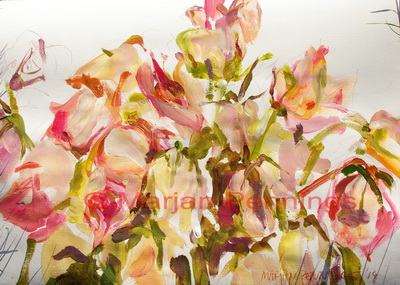 And how the roses died '14 - 55 x 65 - Marjan Pennings.