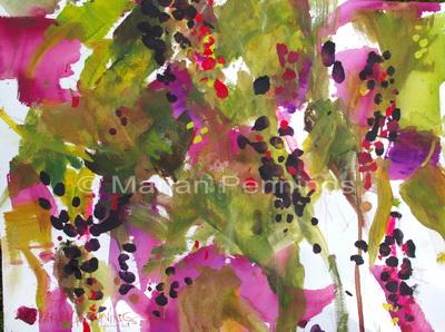 Glorious poisonous colours '14 - 65 x 50 - Marjan Pennings