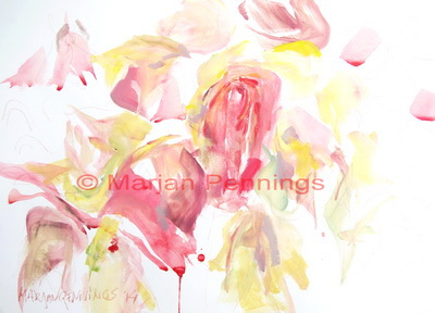 How the roses witherted even more '14 55 x 65 - Marjan Pennings
