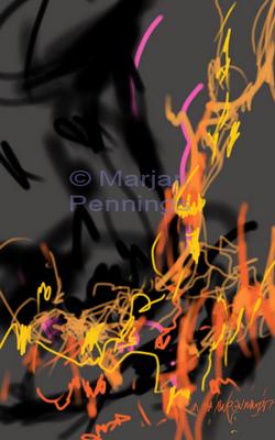 Vuurtje stoken, print '17 - Marjam Pennings