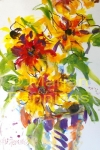 Rudbeckia's in pot - 50x60 - '14 - Marjan Pennings