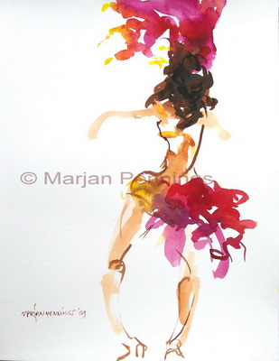 Braziliaans Carnaval, 65 x 50 cm Marjan Pennings
