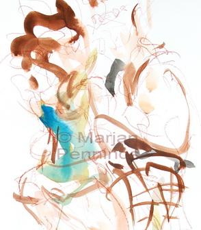 To dance, detail, 65 x 50 cm - Marjan Pennings