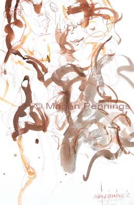 Fun with friends, 65 x 50 cm - Marjan Pennings