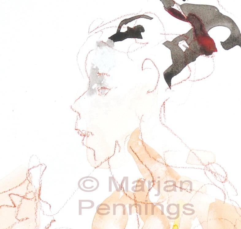Even pauze, detail - Marjan Pennings