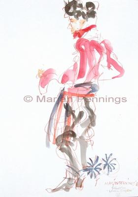 De sporen, 50 x 35 cm - Marjan Pennings