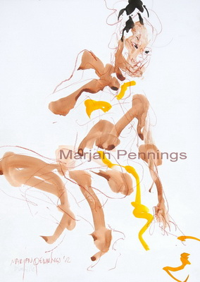 Voorpret, 50 x35 cm - Marjan Pennings