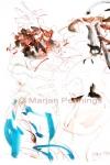 Uit je dak op Dias Latinos 1, 65 x 50 cm - Marjan Pennings